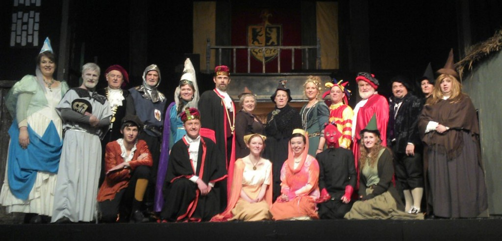 The cast of CMS's wonderful production of Terry Pratchett's Wyrd Sisters