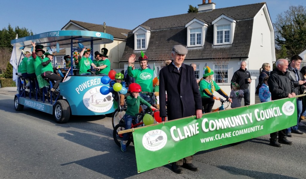 Clane Community Councils Float about to power up Main Street