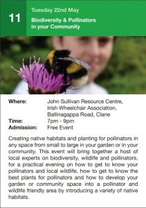 Biodiversity & Pollinators in your Community @ John Sullivan Resource Centre, Irish Wheelchair Association