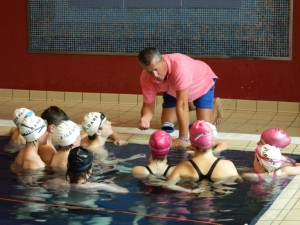Swimming team training with Paul McLoughlin