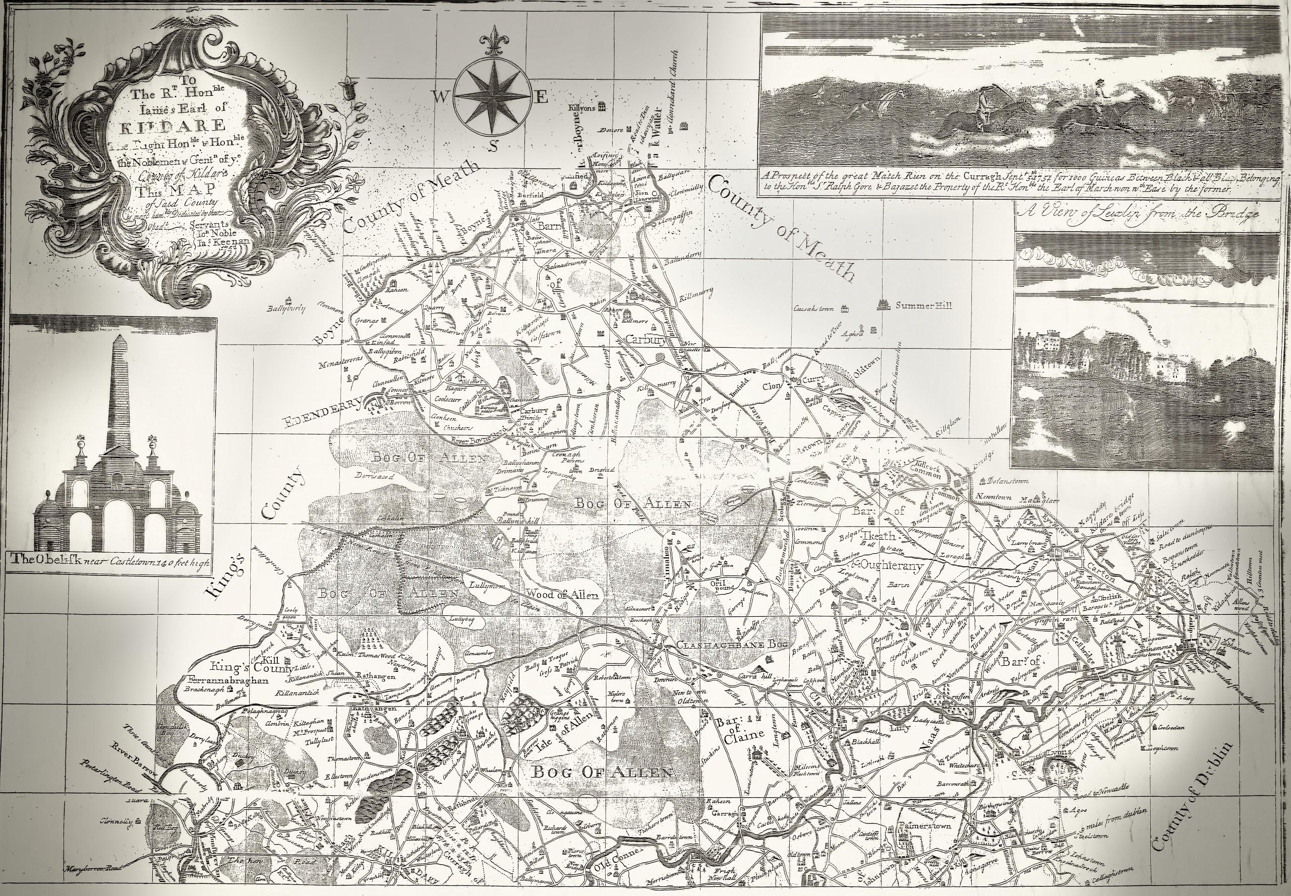 Keenan Map of Clane 1752