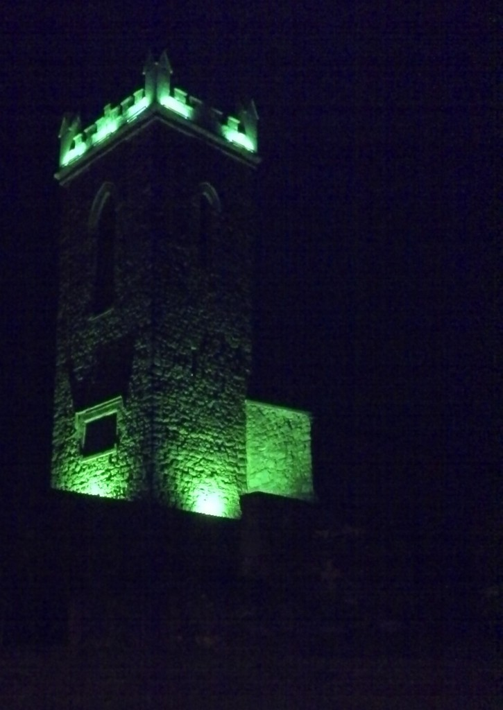 Clane Abbey in Green St Patricks Day 2014