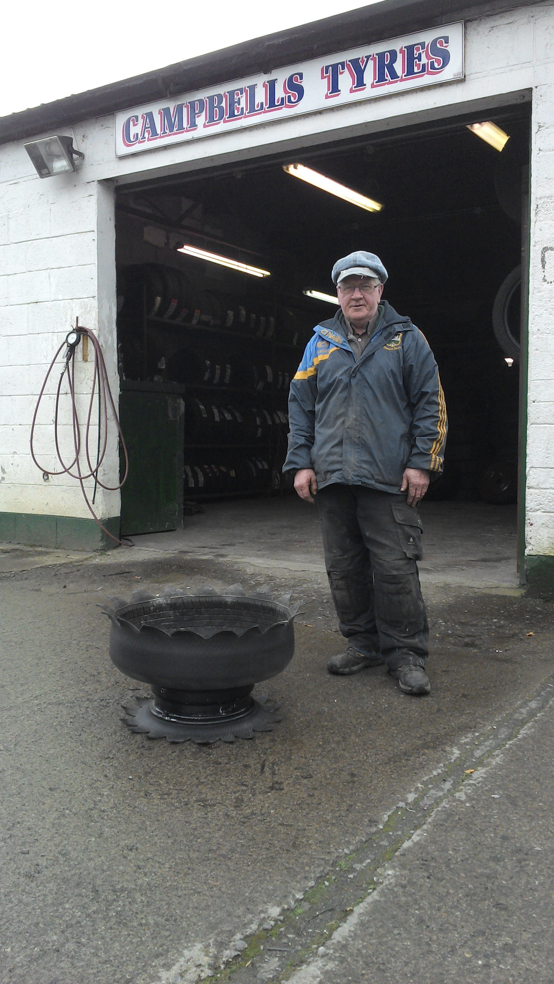Joe Campbell - Recycling old wheels into a thing of Beauty!