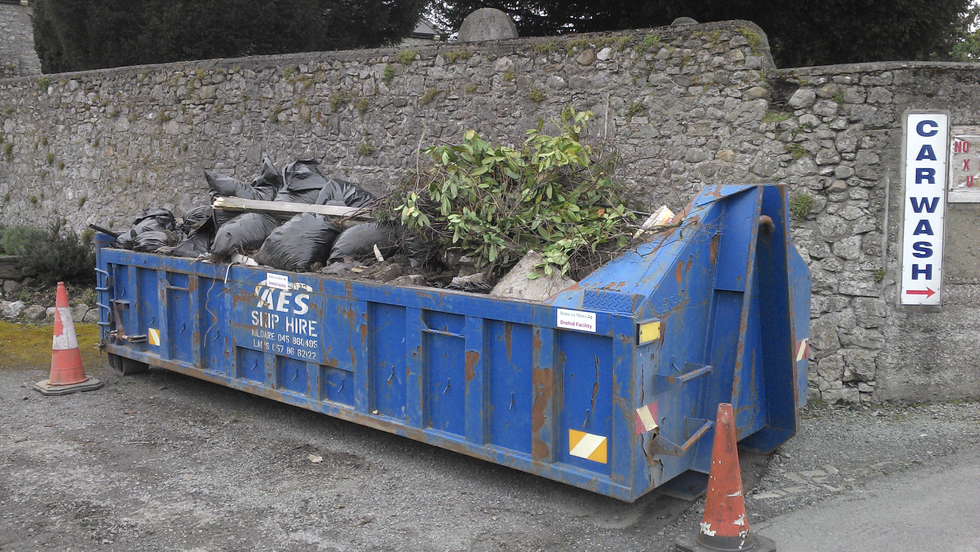 Collected rubbish