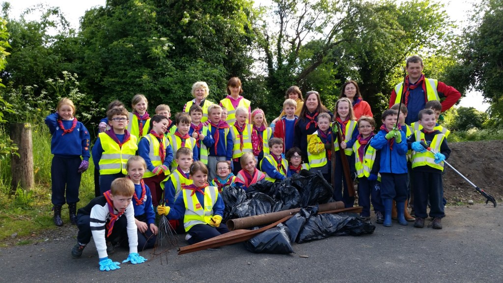13th Kildare Beavers after a big clean-up of Nancy's Lane